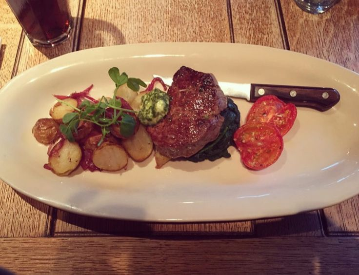 NEW REVIEW: The Onslow Arms Fillet Steak, Sauté Potatoes #surrey #eatingout #filletsteak #dinner #review #foodblog #blog