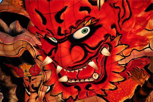 Gigantic festival float made out of Japanese paper Nebuta Festival Aomori, Japan