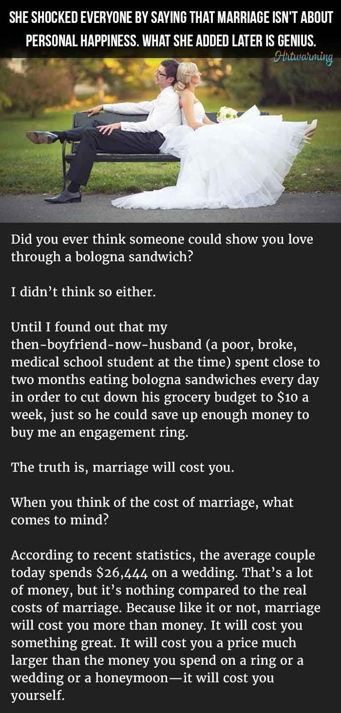 why marriage is pointless