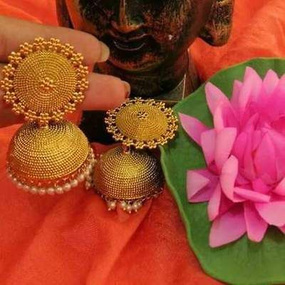 Women Gold Plated Indian Bollywood Vintage Ethnic Bridal Fashion Jhumka Earring