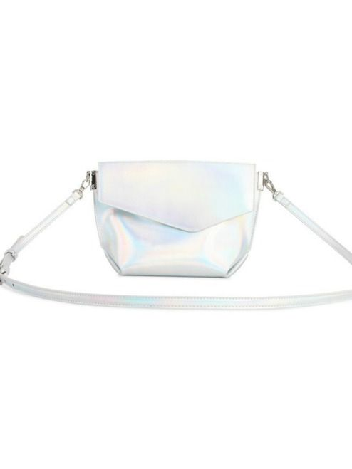Lucy Crossbody Purse - Holographic | This adorable little purse features three compartments and a detachable shoulder strap! #torontofashion #CanadianDesigners #canadianfashion #canadianfashionblogger #canadiandesigner #canadianbrands #veganleather #veganfashion #crueltyfree #pixiemood #pixiemoodbag #vegantotes #backpack #veganpurse #purse #convertiblebag #crossbodybag #crossbodypurse #crossbodyshoulderbag #springfashion #torontostyle