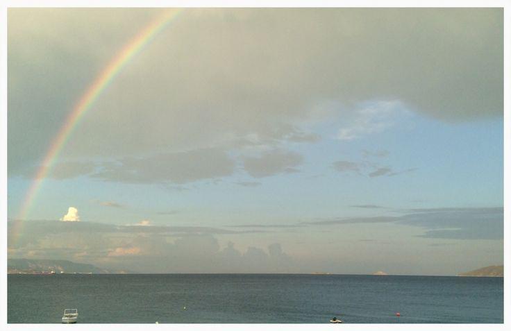 Rainbow in Loutra Oraias Elenis.