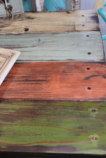 furniture from reclaimed wood. I love the rustic colors.