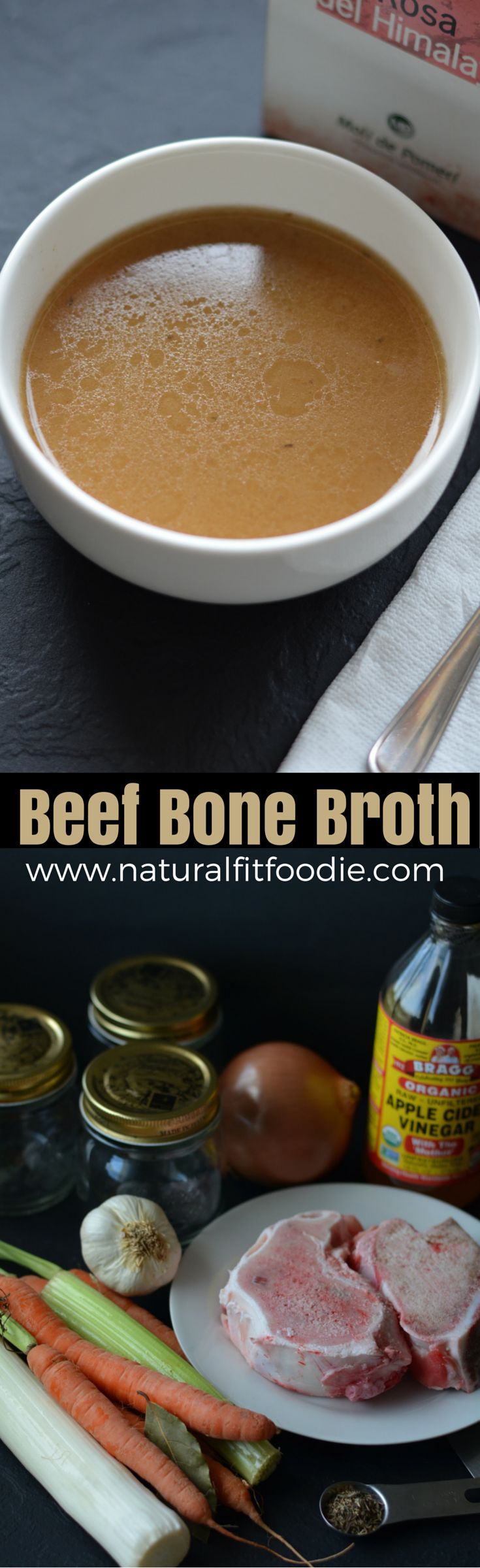 Healing Beef Bone Broth - www.naturalfitfoodie.com Bone broth is nutrient-dense, easy to digest and inexpensive to create at home so why not make your own?