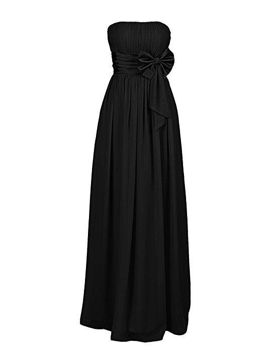Dresstell ブライズメイドドレス 結婚式ドレス ベアトップ ロボン付き ロング丈 花嫁ワンピース 二次会ドレス シンプルシフォン レースアップ お呼ばれ フォーマルドレス 発表会ドレス シャンペン サイズ9