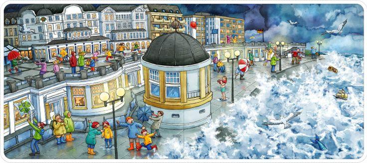 Grote praatplaat boulevard met storm