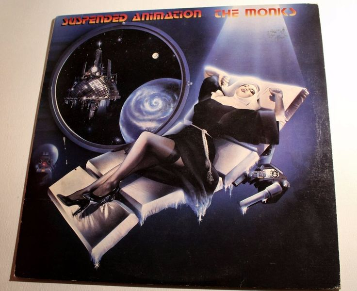The Monks  – Suspended Animation  LP vinyl Punk New wave Great art cover #newwavePunk