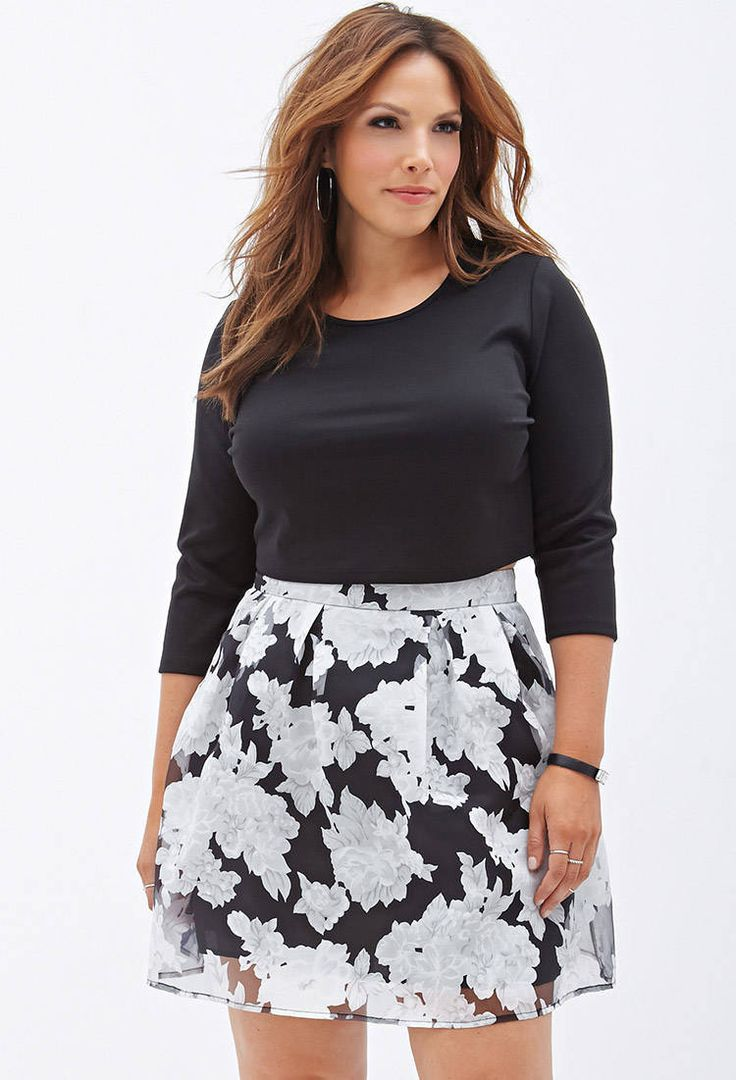 Floral Print A-Line #Skirt by Forever 21 - Found on HeartThis.com @HeartThis | See item http://www.heartthis.com/product/378057156064267294?cid=pinterest