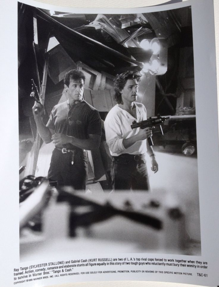 """Vintage Movie Still - """"Tango & Cash""""  1989- Sylvester Stallone - Kurt Russell - 8x10 by thefilmcollective on Etsy https://www.etsy.com/listing/213799548/vintage-movie-still-tango-cash-1989"""