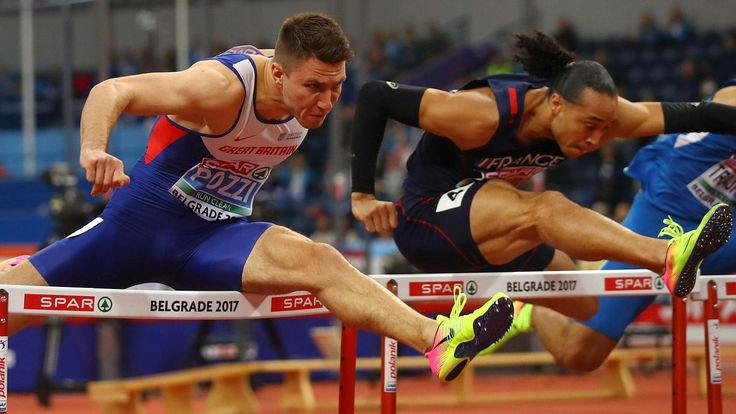 Andrew Pozzi will never forget the first time, but then he has had to wait so long for it. The 24-year-old finally won a first international senior medal last night at the European Indoor Championships and for good measure it was a gold.  Pozzi claimed victory in the 60 metres hurdles, edging out Pascal Martinot-Lagarde, of France, after a poor start. For years people have seen his potential but for once he was able to bring his best to a championships without injury intervening.