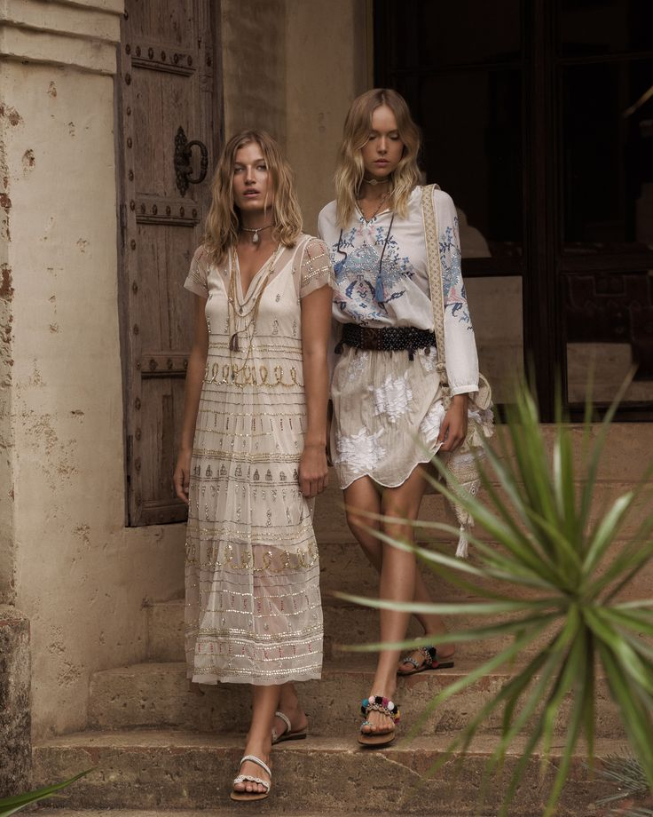 Ruby Yaya | Spring Summer 2017 Lovely boho embroidered white shirt (blouse). Beach Style.  #crossstich #Bohemian #craft #handmade, #embroidery #gypsy #elegant #classic #blouse #offshoulder