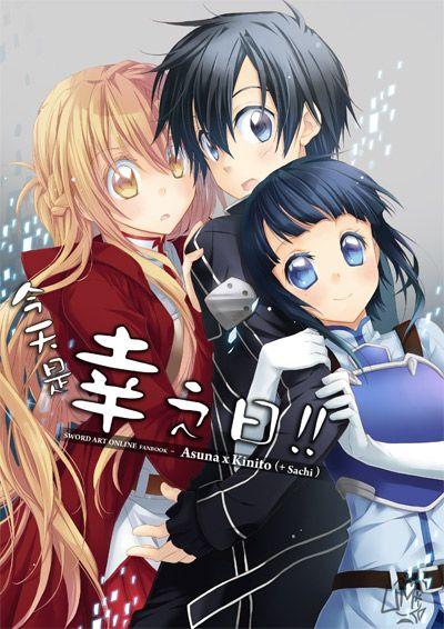 Sword Art Online - Asuna, Kirito and Sachi.
