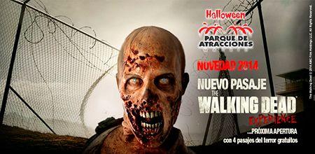 Vive Halloween 2014 en el Parque de Atracciones de Madrid y siéntete como en Walking Dead. Además disfruta de 4 pasajes del terror http://www.ticktackticket.com/entradas/goto_agenda.do?evento=Parque+de+Atracciones+de+Madrid&poblacion=&origin=CARR
