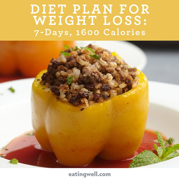 7 Day Diet Meal Plan To Lose Weight 1 600 Calories