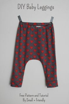 Baby Harempants selbst nähen aus alten T-Shirts #Upcycling #Babykleidung #DIY http://www.smallfriendly.com/small-friendly/2014/10/free-sewing-patterns-baby-leggings-and-shorts.html