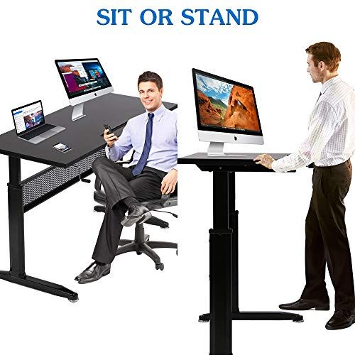Height Adjustable Desk Standing Desk Converter Home Office Desk Stand Up Desk Adjustable C Adjustable Height Desk Sit Stand Workstation Standing Desk Converter