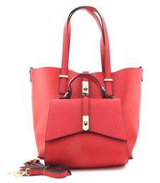 Buy Red fashion tote bag tote-bag online