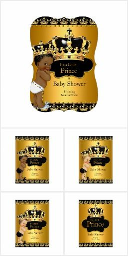 A Black Gold Prince Baby Shower
