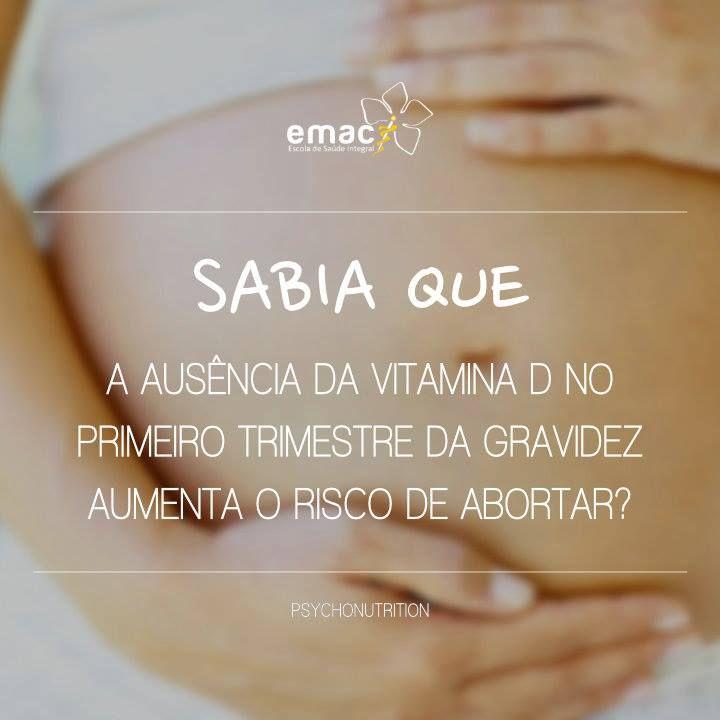 A Vitamina D tem sido associada a algumas complicações da gravidez como a pré-eclâmpsia ou diabetes gestacional.     O seu défice em mulheres grávidas é comum e é um fator de risco para os abortos espontâneos no primeiro trimestre de gravidez.    A PsychoNutrition é uma área que visa tratar todas as doenças que afetam o ser humano, com alimentos e nutrientes concentrados.    http://emac-edu.com/course/11-psychonutrition