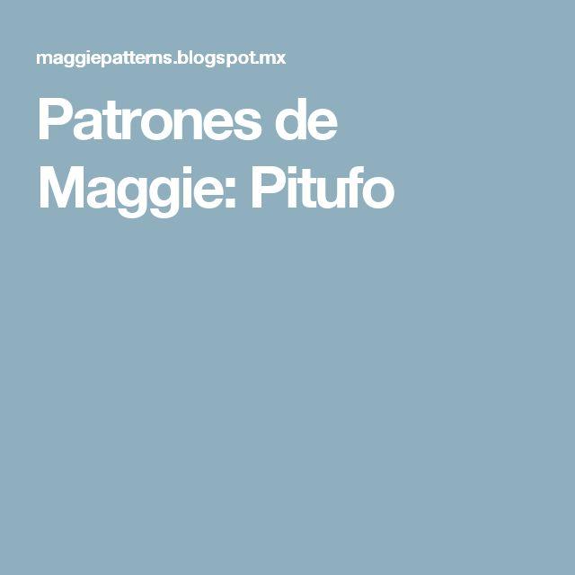 Patrones de Maggie: Pitufo