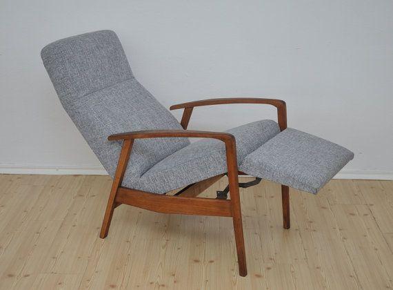 Vintage DANISH Recliner Armchair Design NEW UPHOLSTERY
