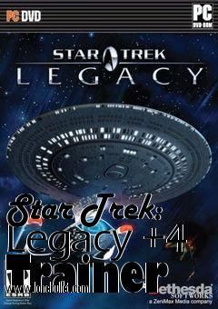 Hello Star Trek Legacy lover! Download the Star Trek Legacy  4 Trainer for free at LoneBullet - http://www.lonebullet.com/trainers/download-star-trek-legacy-4-trainer-free-6699.htm without breaking a sweat!