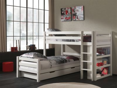 Vipack Furniture Winkel Etagenbett Pino mit Bettschubladen, weiß Jetzt bestellen unter: https://moebel.ladendirekt.de/kinderzimmer/betten/etagenbetten/?uid=17225341-0a65-50d5-b64d-6fccc4700c36&utm_source=pinterest&utm_medium=pin&utm_campaign=boards #etagenbetten #kinderzimmer #kleinkindmöbel #betten