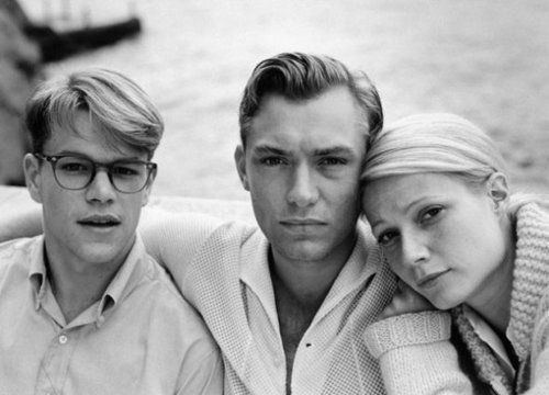 Matt Damon, Jude Law, and white lady in The Talented Mr.Ripley, 1999. A favorite of mine. All 3 were so amazing in this film.