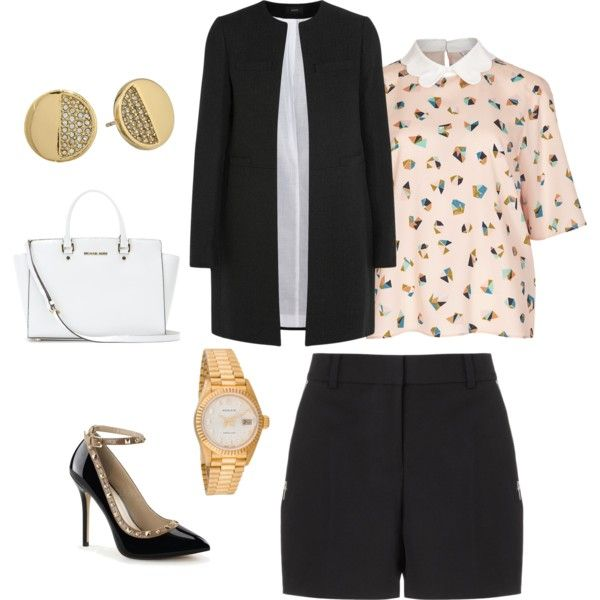 A fashion look from February 2015 featuring Joseph coats, Alexander Wang shorts and MICHAEL Michael Kors tote bags. Browse and shop related looks.