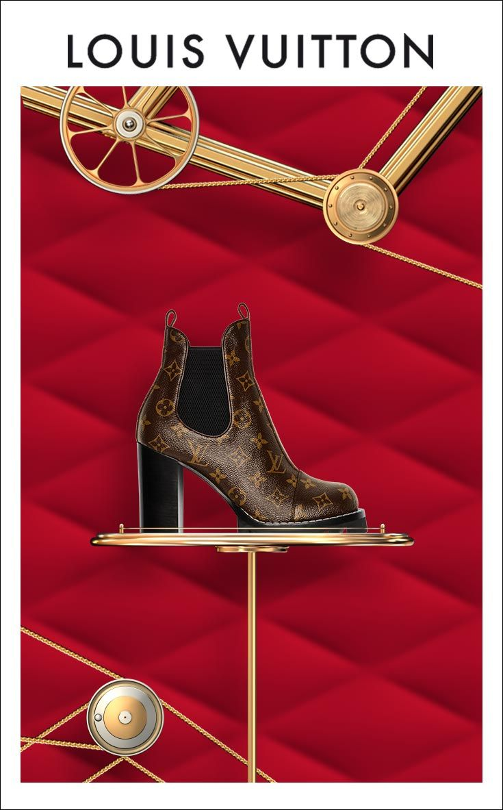 Step in the holidays with Louis Vuitton. Shop Monogram Boots.