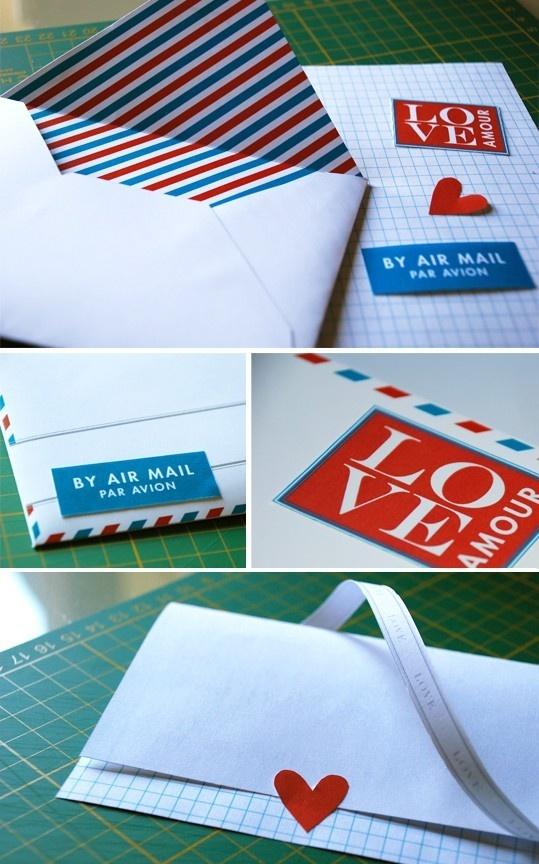 letter: Craft, Diy'S, Diy Printable, Airmail, Wedding, Envelope, Letter Printable, Valentine, Love Letters