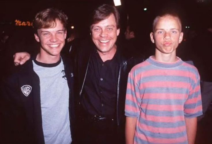 Mark Hamill with his sons Nathan and Griffin