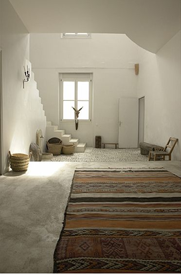 // paris home, photograph by mark eden schooley.... how to arrange white minimal spaces with an ethnic touch