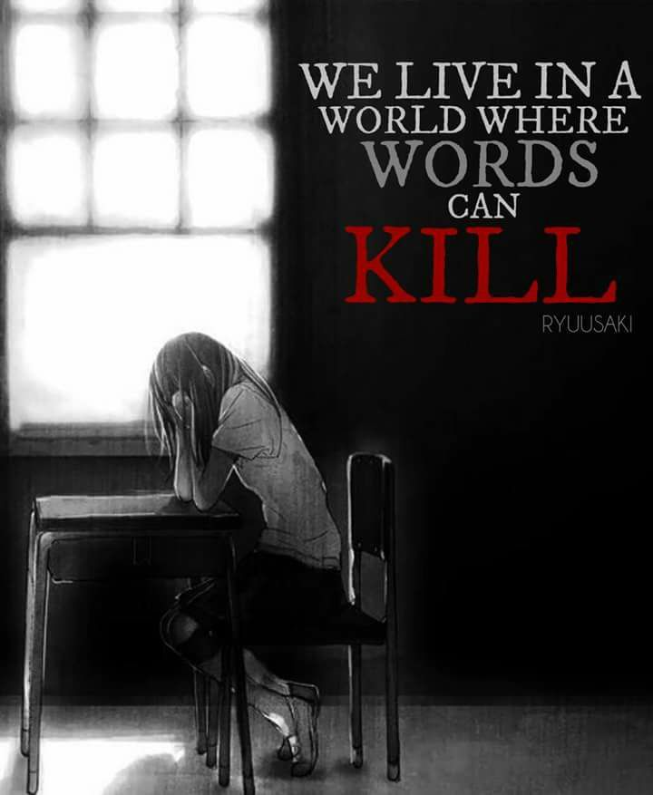 We live in a world where words can kill