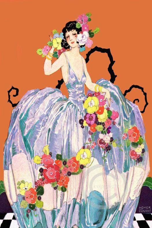 Very Art Deco Whimsical Rare Homer Conant by DragonflyMeadowsArt, $25.00