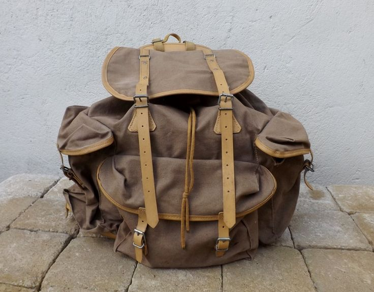French vintage rucksack Lafuma backpack by Daisyrootsfrance