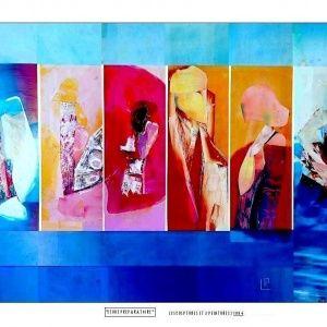 Collage la cui tecnica, di sua invenzione, consente di competere con quella, classica, della pittura a olio