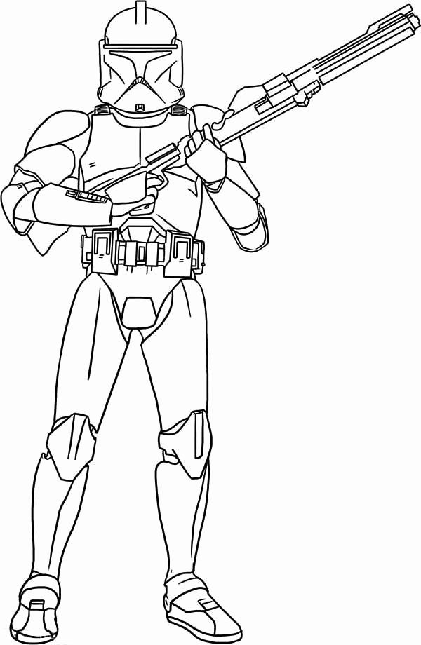 28 Clone Trooper Coloring Page In 2020 Star Wars Drawings Star