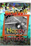 Happy Birthday - Colorful, Baseball Card by Greeting Card Universe. $3.00. 5 x 7 inch premium quality folded paper greeting card. Greeting Card Universe offers the largest selection of birthday cards on the web. Make this birthday a memorable one by sending a custom card. Allow Greeting Card Universe to handle all your birthday card needs this year. This paper card includes the following themes: Birthday, happy birthday, and baseball. Baseball cards from Greeting Card Univers...