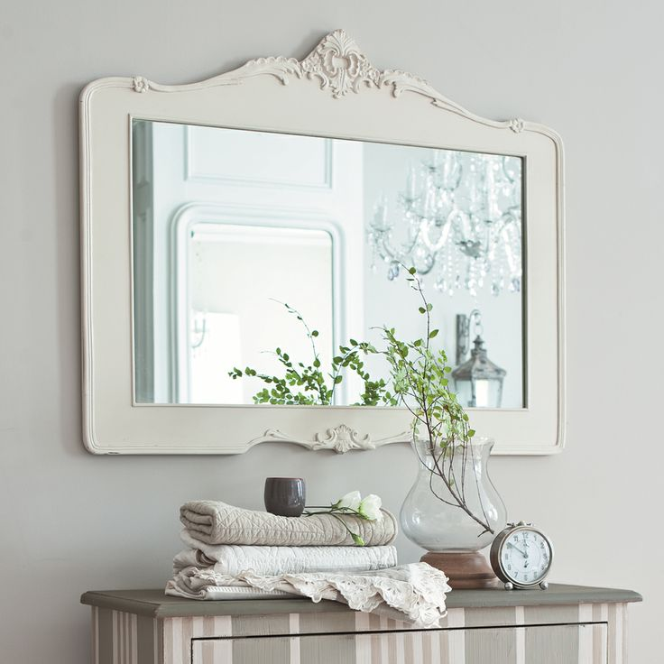 Specchio Romantica Maison du monde 80 per 100 di larghezza 89 euro. resina.