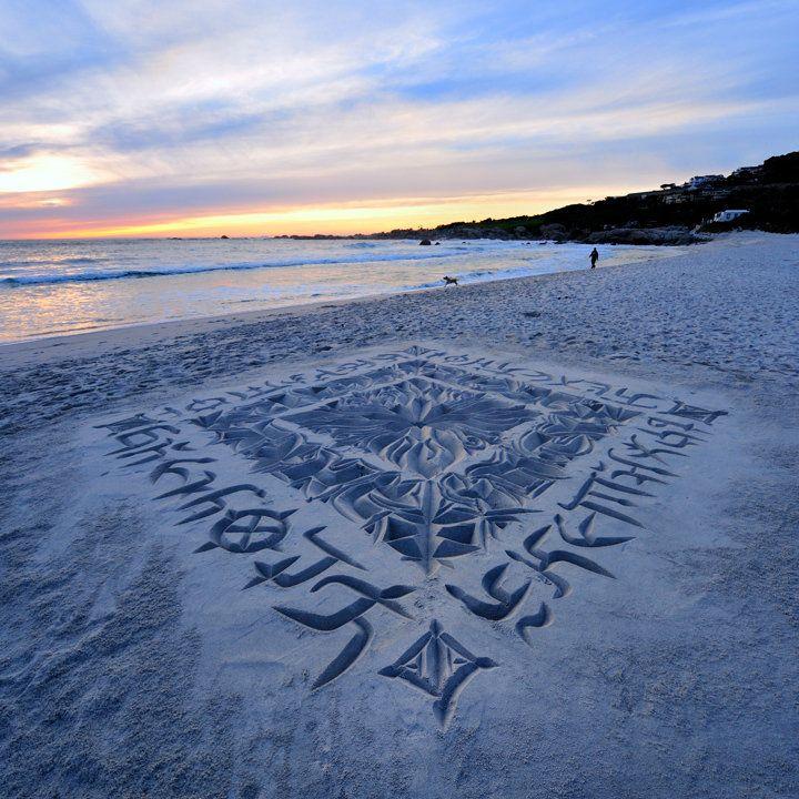 Stunninb Beach Calligraphy from a CapeTown artist.