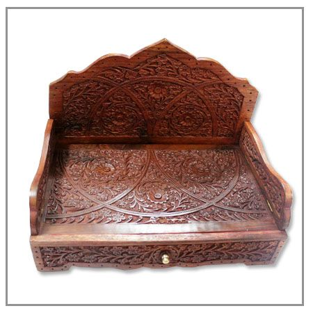 Handcrafted Wooden Sinhasan for Dieties