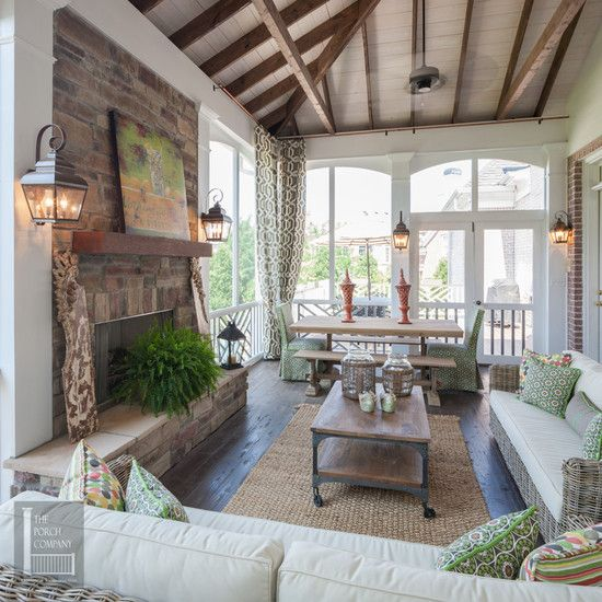 Screened Porch: Idea, Dreams Houses, Screens Porches, Decks, Outdoor Rooms, Screens In Porches, Covers Porches, Outdoor Fireplaces, Sunroom