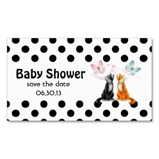 business save the date templates free - baby shower save the date cats and polka dots business