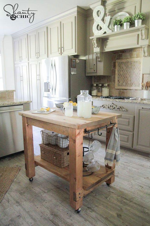 28 ideas para hacer una isla de cocina económica DIY ...