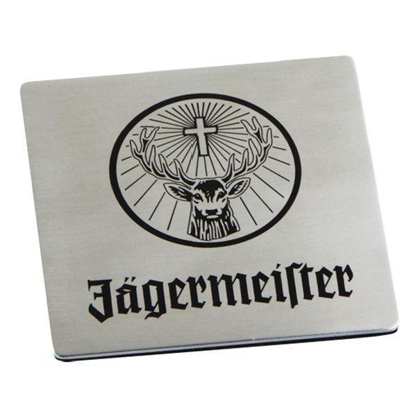 Jägermeister glasunderlägg rostfri - Dryckesglas.se