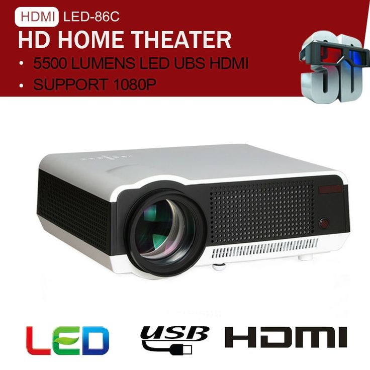 214.84$  Buy now - http://alix1g.worldwells.pw/go.php?t=32638019178 - 5500Lumens Full HD Projector LED 3D WIFI projector support 1080p Multimedia Meeting Home Theater Business LED-86 proyector 214.84$