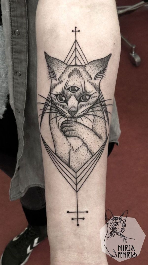 40 Intelligent Geometric Tattoo Designs | http://www.barneyfrank.net/intelligent-geometric-tattoo-designs/