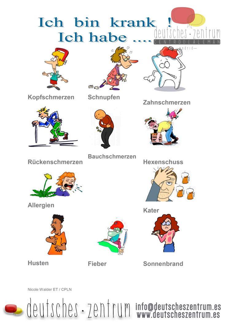 Ich bin krank / Deutsch / Alemán / Wortschatz / Vocabulario