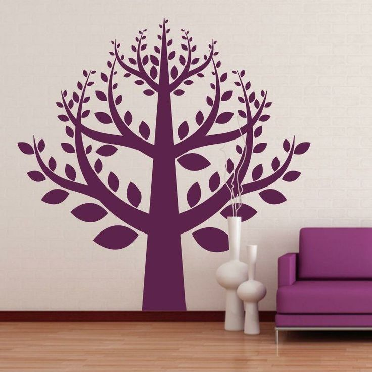 Naklejka jednokolorowa - Drzewo | Singlecolor decorative sticker - Tree | 36,49 PLN #drzewo #naklejka #dekoracja_ściany #dekoracja_domu #aranżacja_ściany #wall_decal #sticker #tree #pattern #home_decor #interior_decor